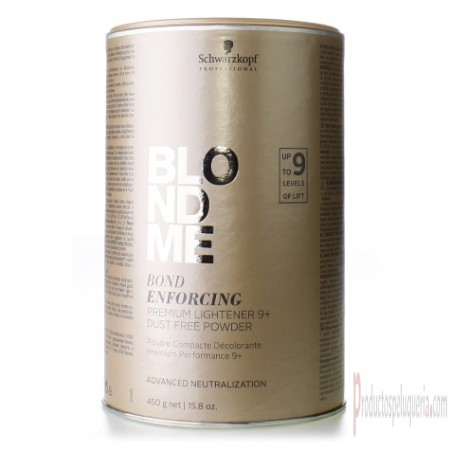 Decoloración Schwarzkopf Blond Me Bond Enforcing Premium Lightener 9+ Dust Free Powder 450 gr