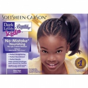 Crema desrizante productos para pelo afro dark and lovely kids kit relaxer para niñas cabello fino