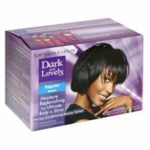 Crema desrizante productos para pelo afro dark and lovely kit no-lye relaxer