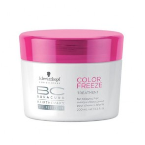 Mascarilla schwarzkopf bc color freeze treatment