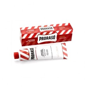 Proraso crema afeitar shaving cream in a tube red